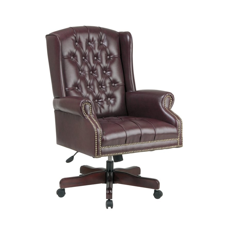 Office Star One WorkSmart Jamestown/Mahogany Vinyl Executive Office Chair