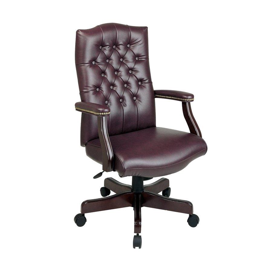 Office Star One WorkSmart Jamestown/Mahogany Vinyl Executive Office Chair