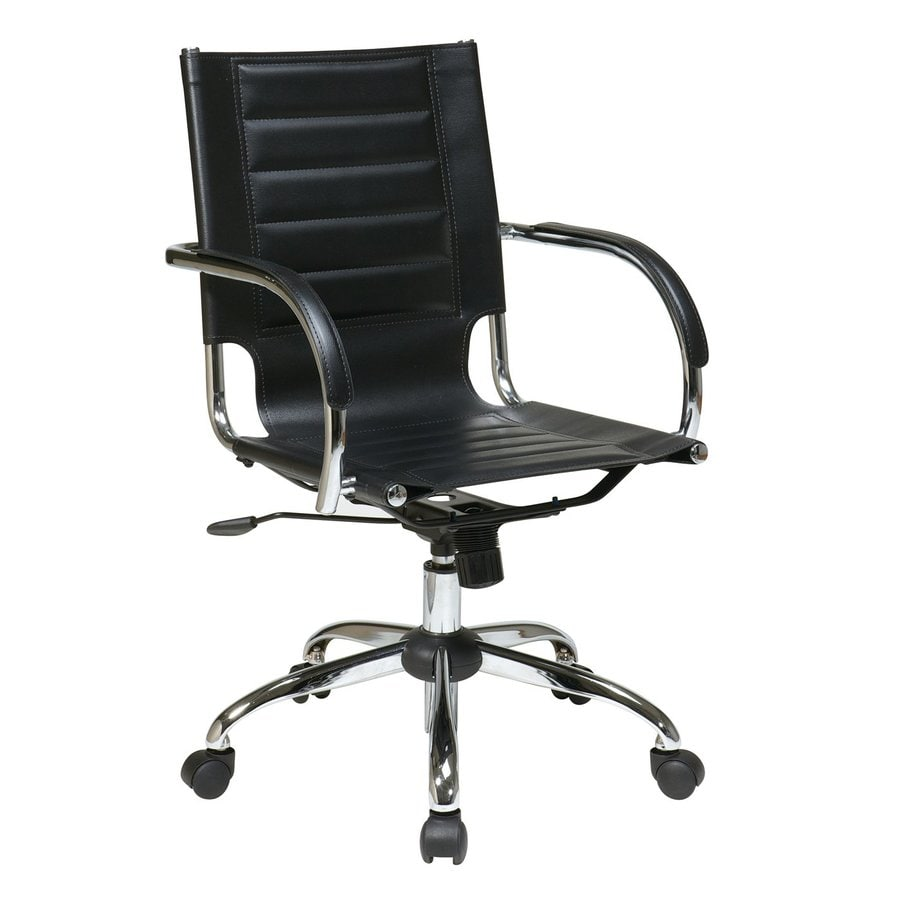 Office Star Trinidad Black/Chrome Contemporary Task Chair