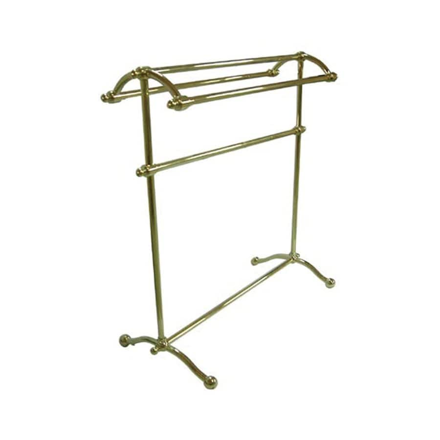 Elements of Design Vintage Polished Brass Rack Towel Bar (Common: 28-in; Actual: 28-in)