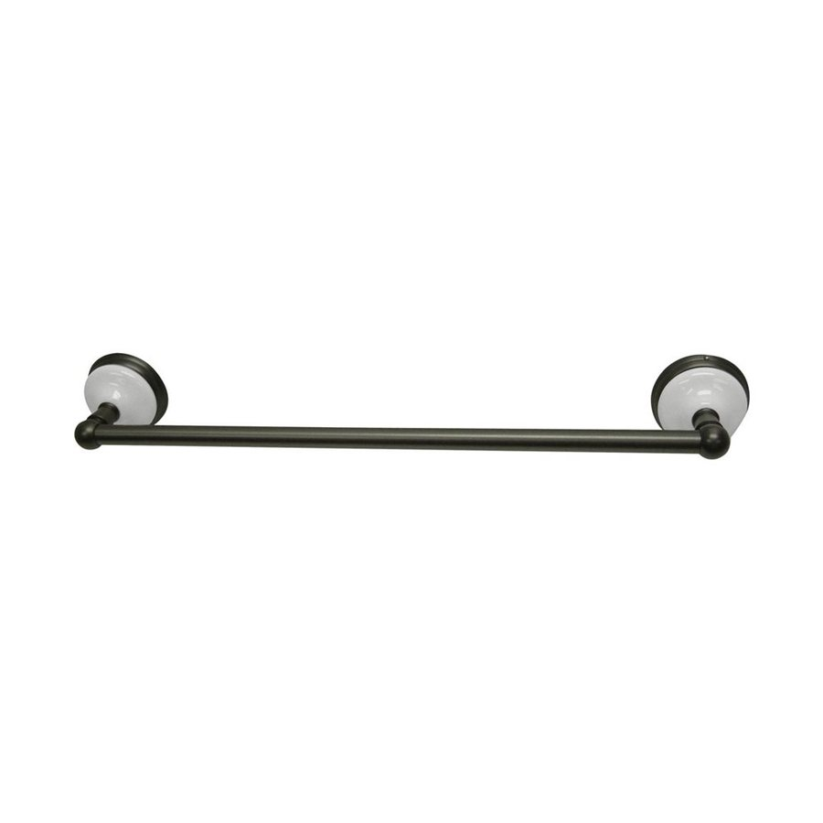 Elements of Design Victorian Oil-Rubbed Bronze Single Towel Bar (Common: 24-in; Actual: 26.75-in)