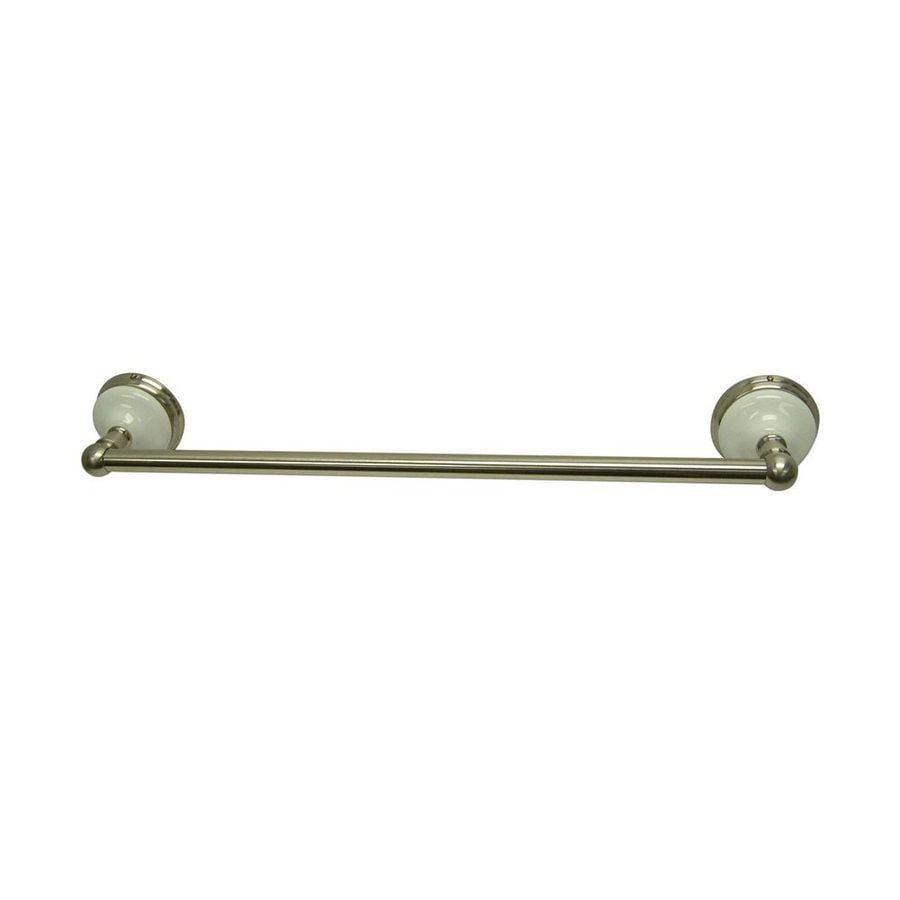 Elements of Design Victorian Satin Nickel Single Towel Bar (Common: 24-in; Actual: 26.75-in)