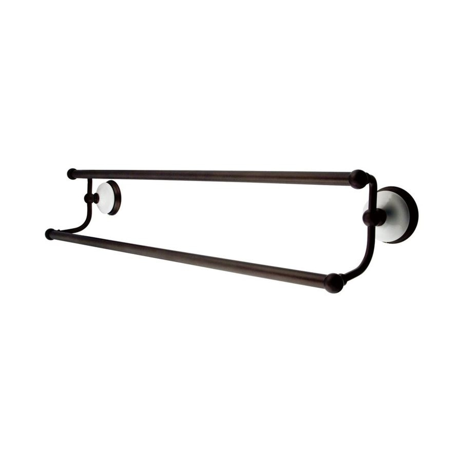 Elements of Design Victorian Oil-Rubbed Bronze Double Towel Bar (Common: 24-in; Actual: 26.75-in)