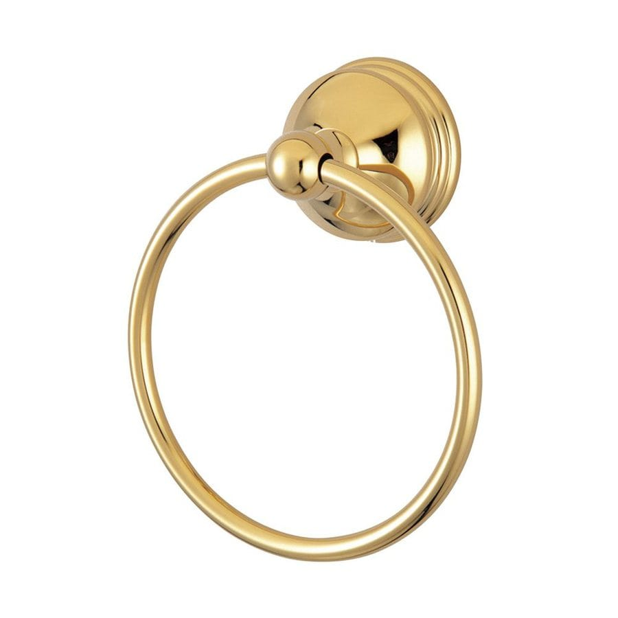 Elements of Design Vintage Polished Brass Wall-Mount Towel Ring