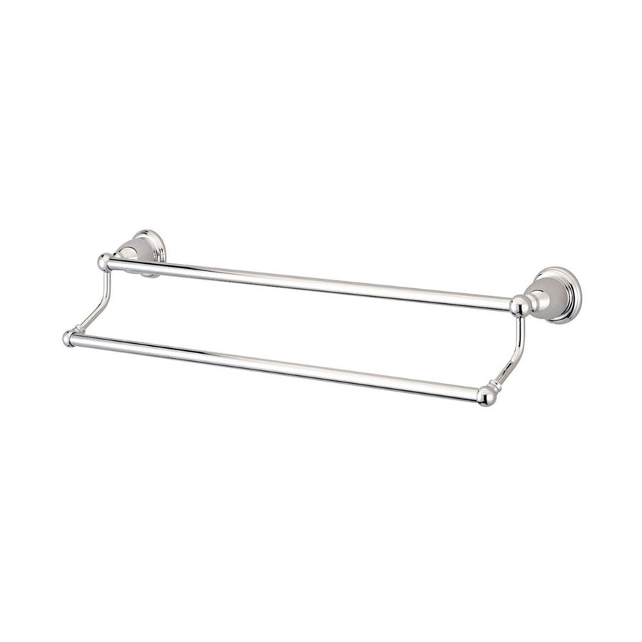 Elements of Design Heritage Chrome Double Towel Bar (Common: 24-in; Actual: 26.5-in)