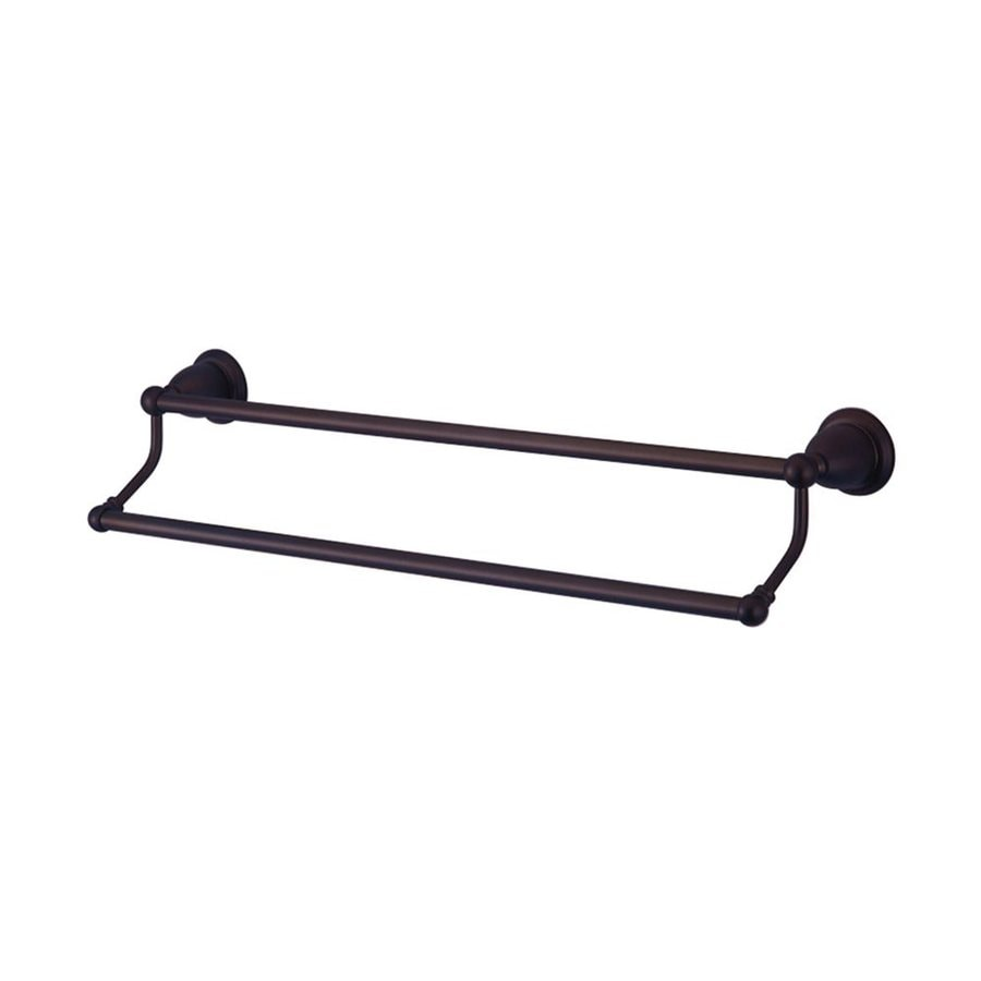 Elements of Design Heritage Oil-Rubbed Bronze Double Towel Bar (Common: 24-in; Actual: 26.5-in)