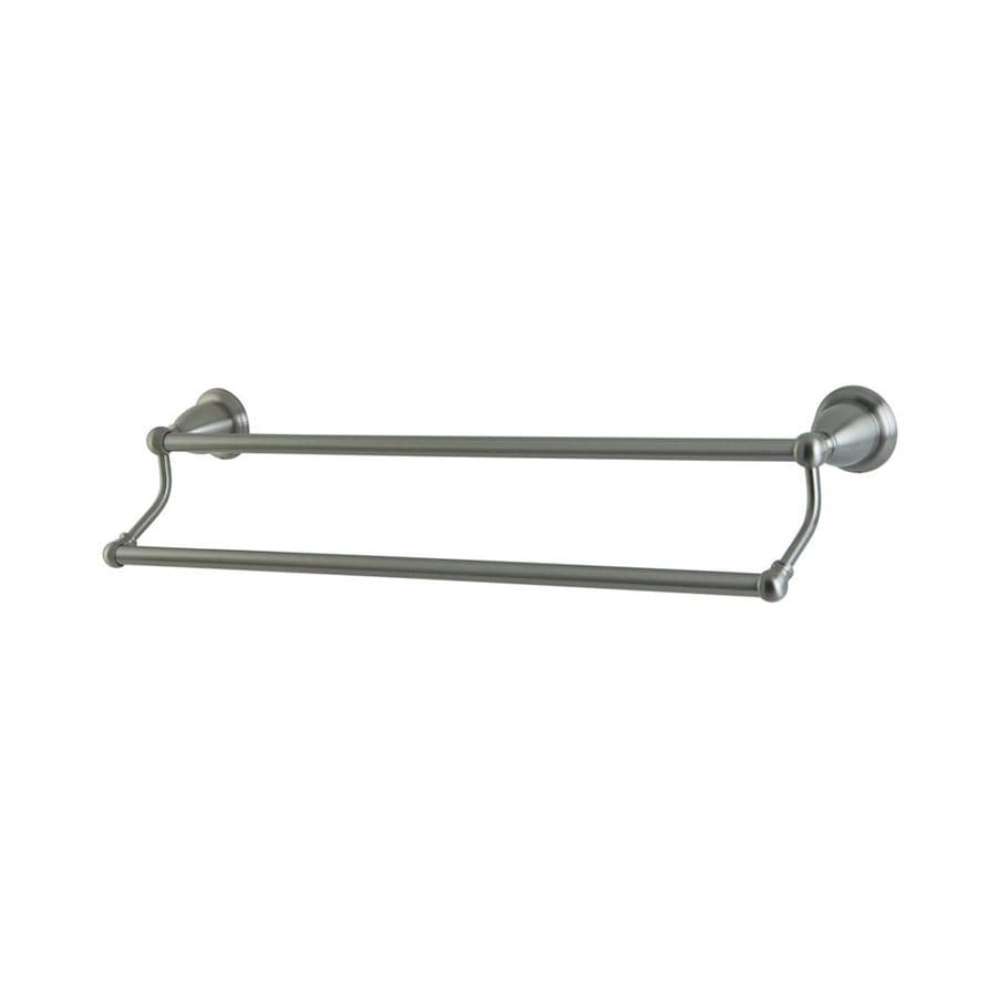 Elements of Design Heritage Satin Nickel Double Towel Bar (Common: 24-in; Actual: 26.5-in)