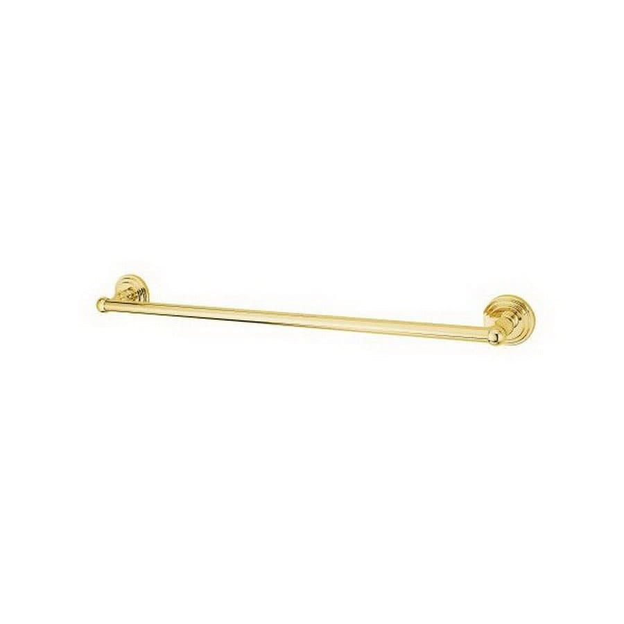 Elements of Design Milano Polished Brass Single Towel Bar (Common: 18-in; Actual: 20.63-in)