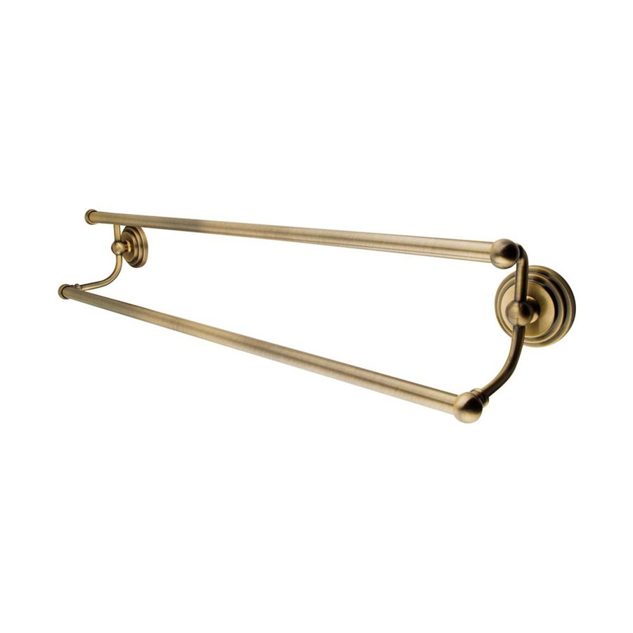 Elements of Design Milano Vintage Brass Double Towel Bar (Common: 24-in; Actual: 26.63-in)