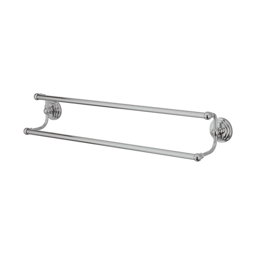 Elements of Design Milano Chrome Double Towel Bar (Common: 24-in; Actual: 26.63-in)