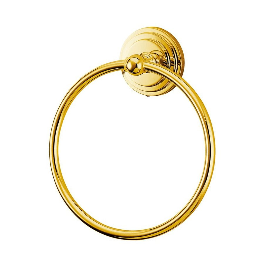 Elements of Design Milano Polished Brass Wall-Mount Towel Ring