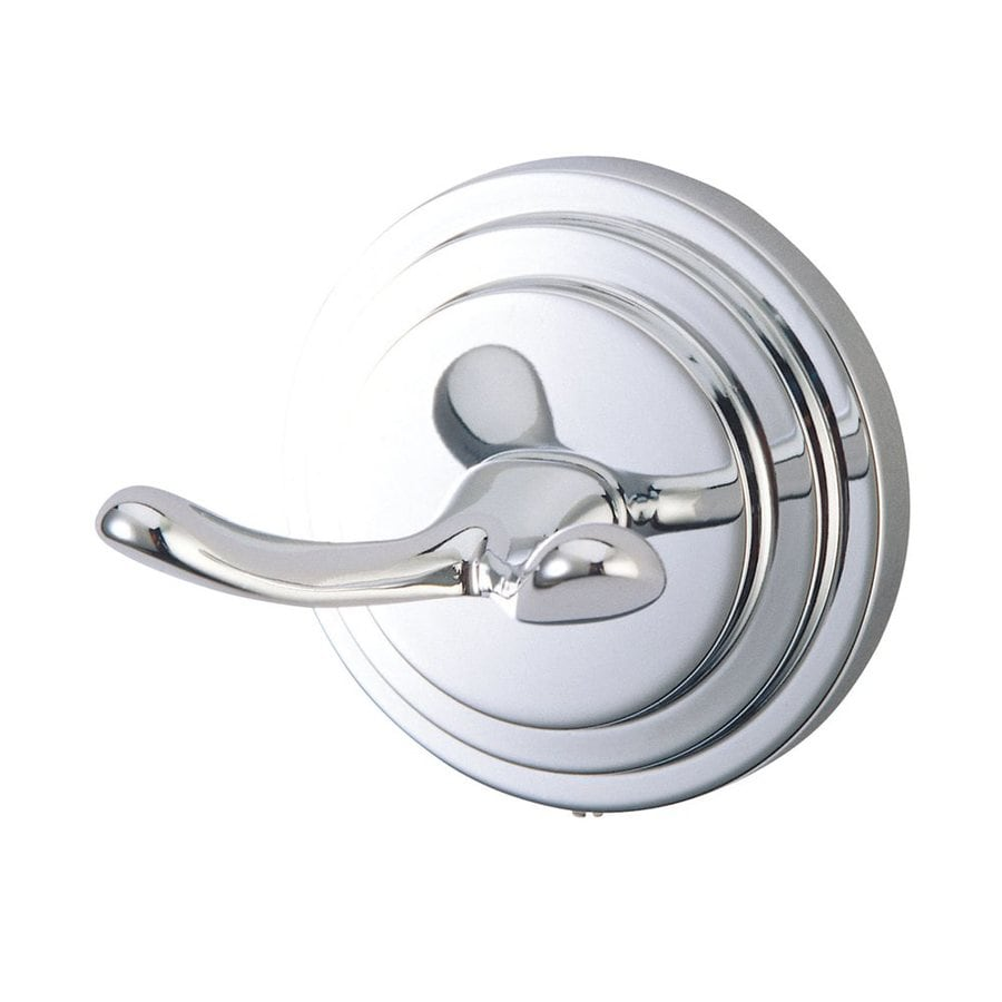 Elements of Design Milano 2-Hook Polished Chrome Towel Hook