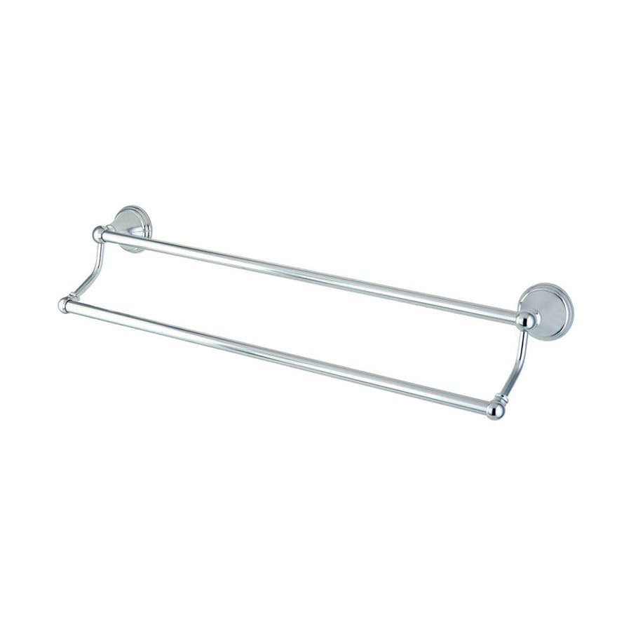 Elements of Design Governor Chrome Double Towel Bar (Common: 24-in; Actual: 26.63-in)