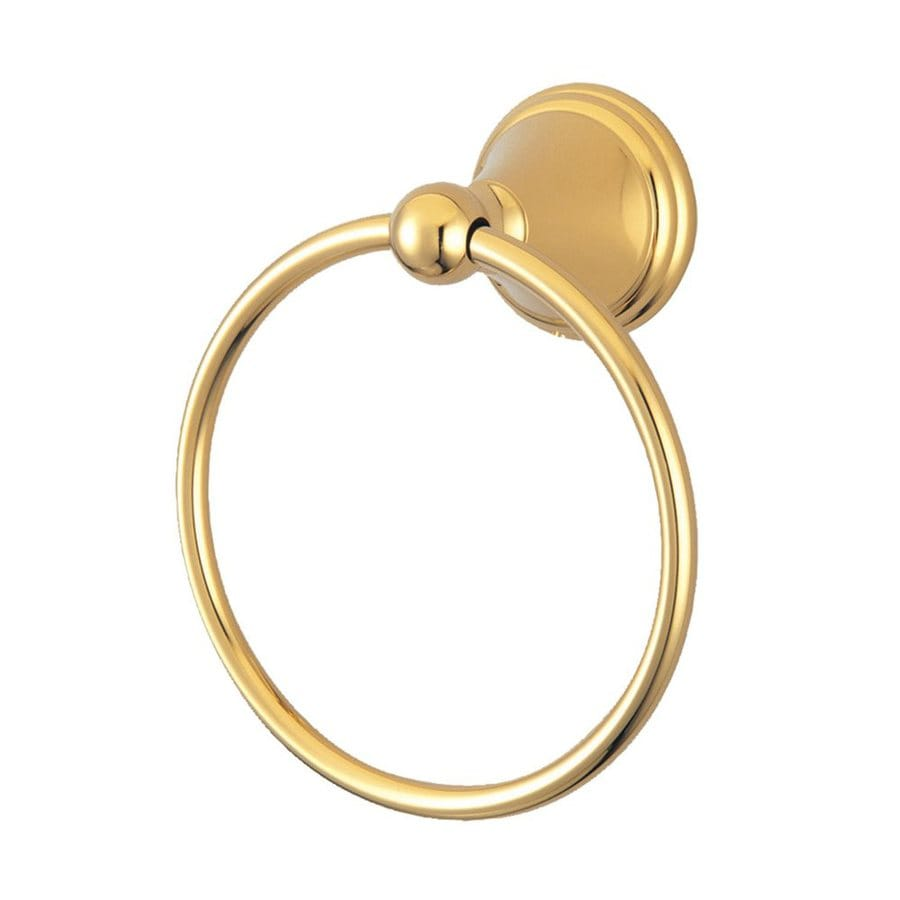 Elements of Design Governor Polished Brass Wall-Mount Towel Ring