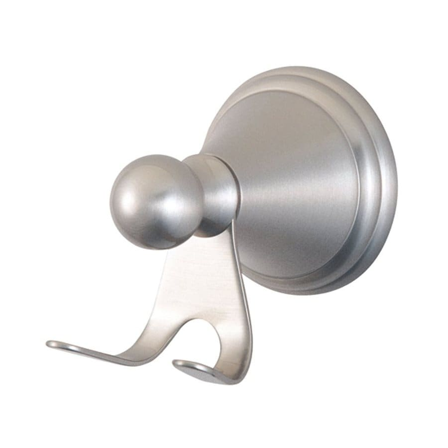 Elements of Design Governor 2-Hook Satin Nickel Robe Hook