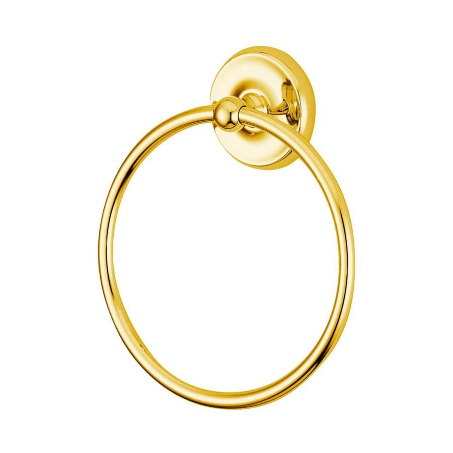 Elements of Design Petosky Polished Brass Wall-Mount Towel Ring