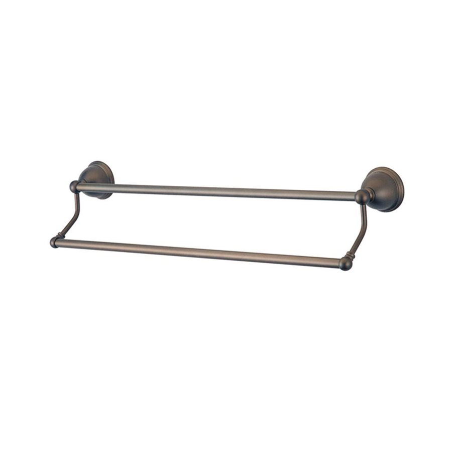 Elements of Design Restoration Oil-Rubbed Bronze Double Towel Bar (Common: 24-in; Actual: 26.75-in)