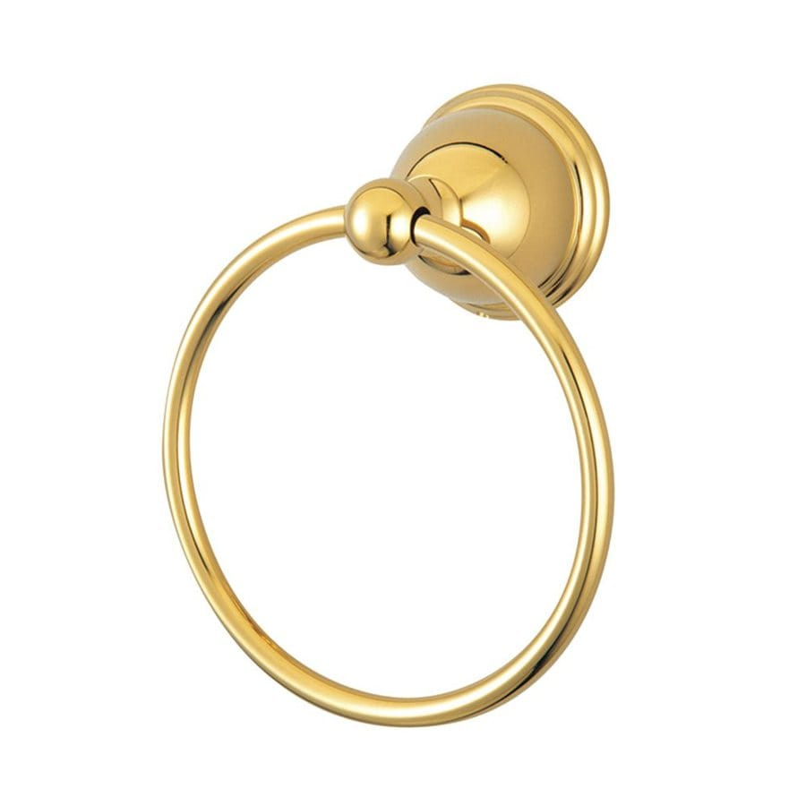 Elements of Design Restoration Polished Brass Wall-Mount Towel Ring
