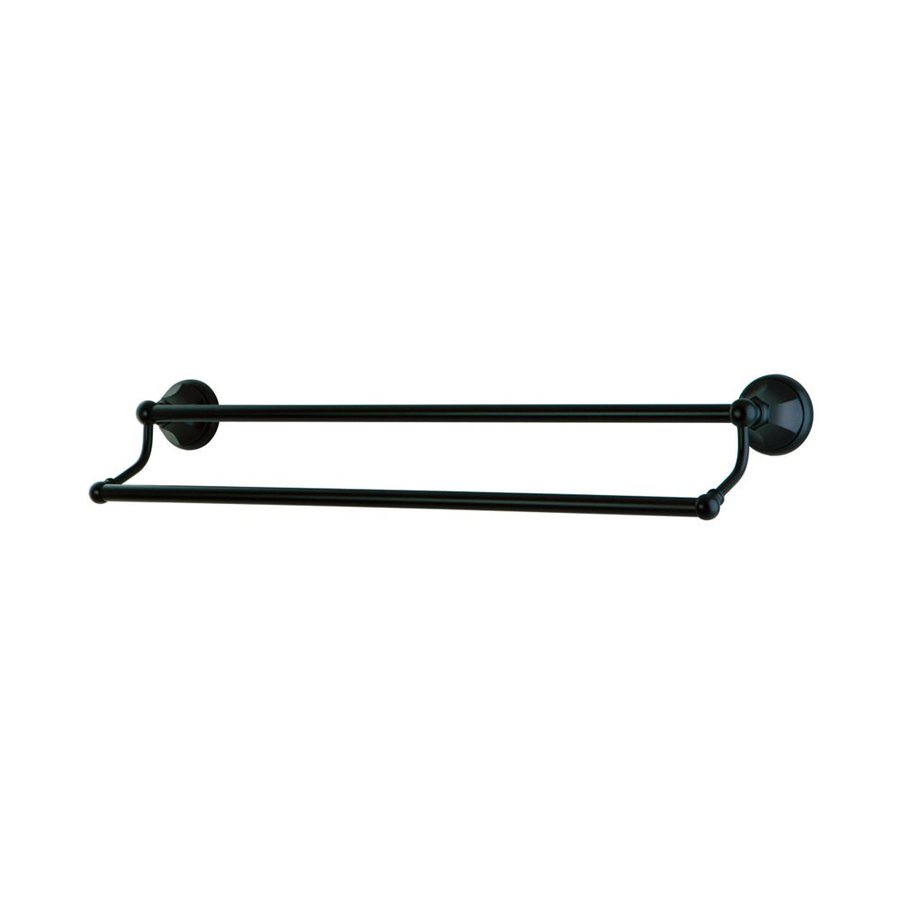 Elements of Design Metropolitan Oil-Rubbed Bronze Double Towel Bar (Common: 24-in; Actual: 26.75-in)