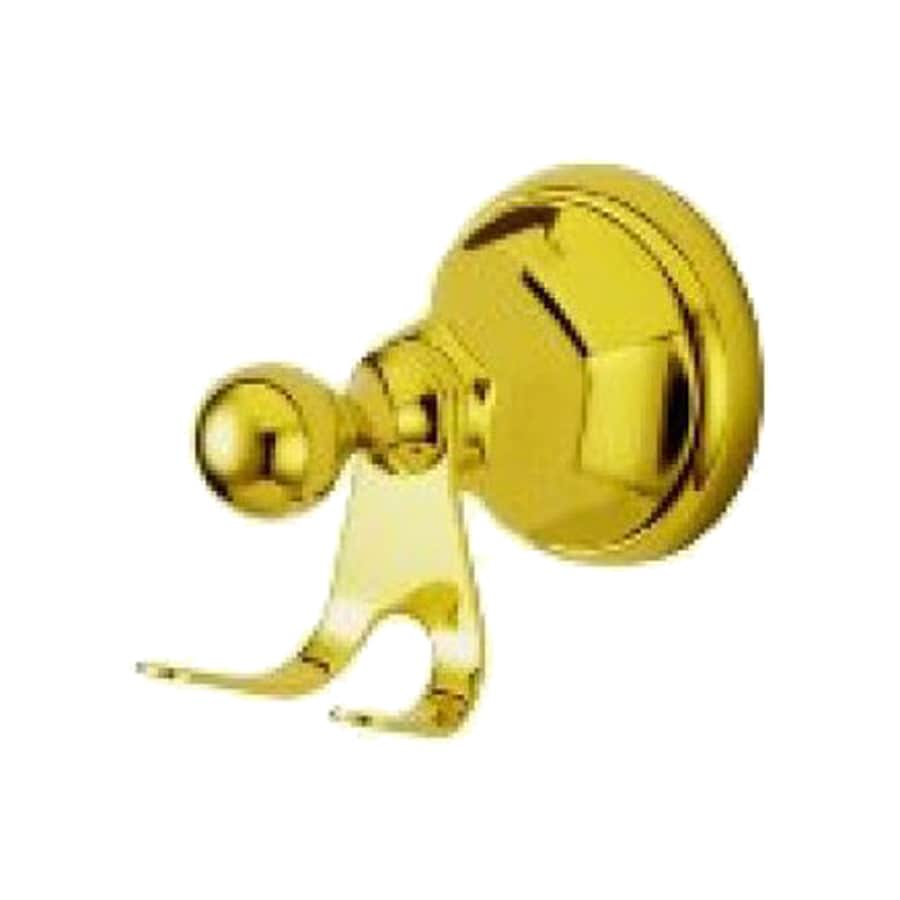 Elements of Design Metropolitan 2-Hook Polished Brass Robe Hook