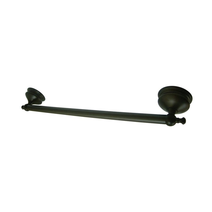 Elements of Design Naples Oil-Rubbed Bronze Single Towel Bar (Common: 18-in; Actual: 20.75-in)