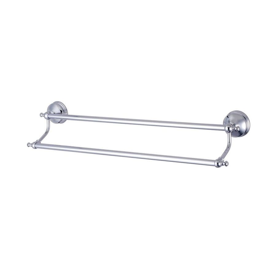 Elements of Design Naples Chrome Double Towel Bar (Common: 24-in; Actual: 26.75-in)