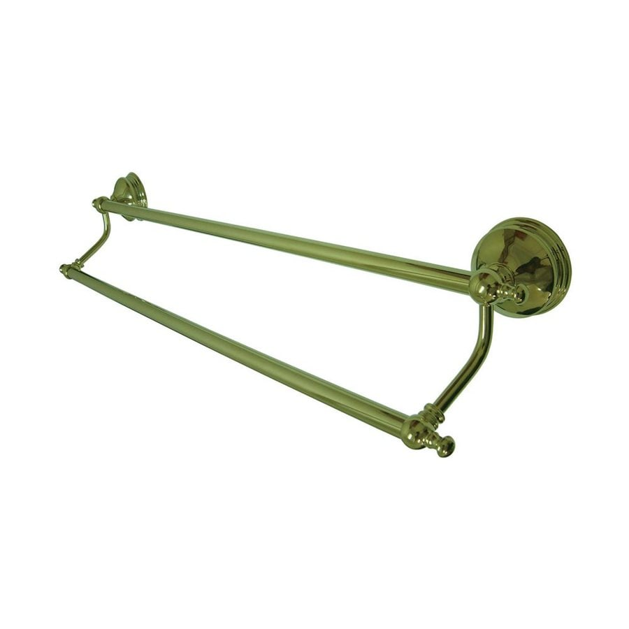 Elements of Design Naples Polished Brass Double Towel Bar (Common: 24-in; Actual: 26.75-in)