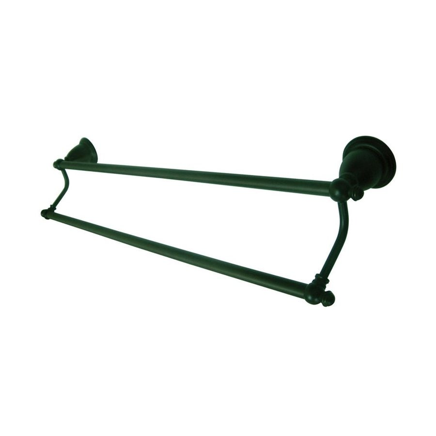 Elements of Design English Vintage Oil-Rubbed Bronze Double Towel Bar (Common: 24-in; Actual: 26.5-in)