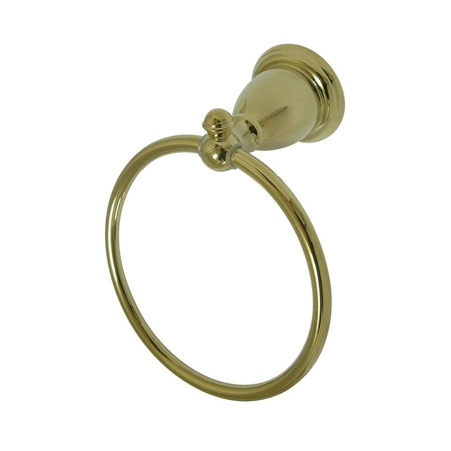 Elements of Design English Vintage Polished Brass Wall-Mount Towel Ring