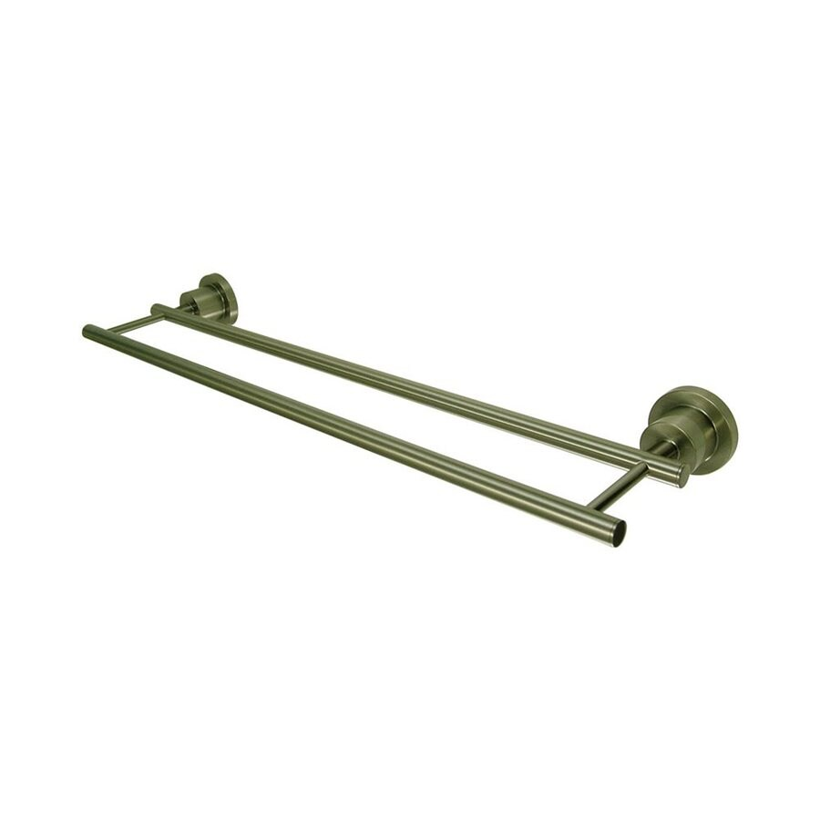 Elements of Design Concord Satin Nickel Double Towel Bar (Common: 24-in; Actual: 24.1875-in)