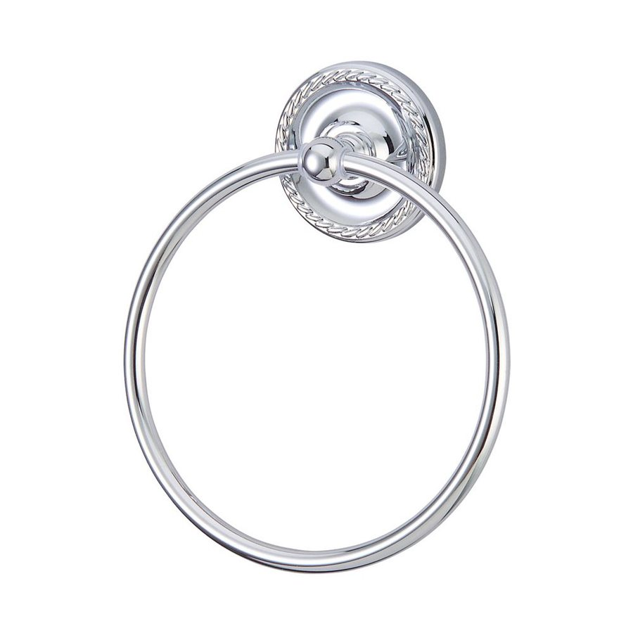 Elements of Design Laurel Polished Chrome Wall-Mount Towel Ring