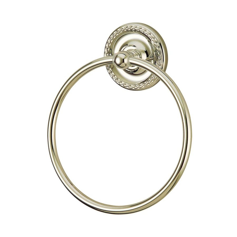 Elements of Design Laurel Satin Nickel Wall-Mount Towel Ring
