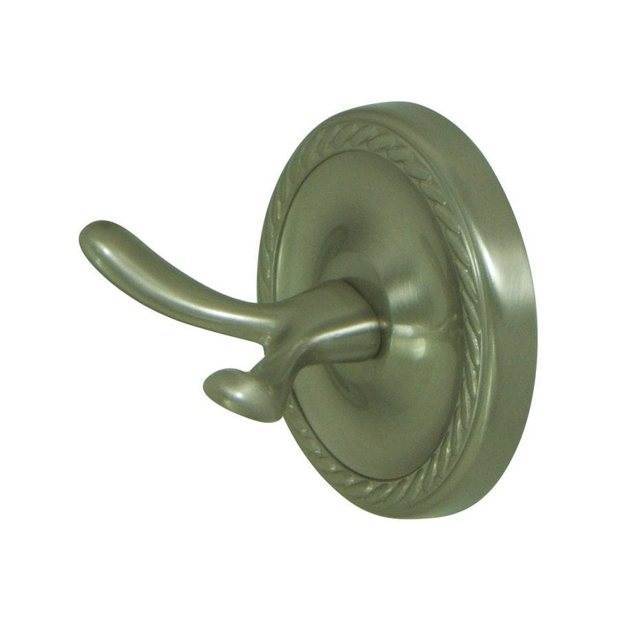 Elements of Design Laurel 2-Hook Satin Nickel Robe Hook