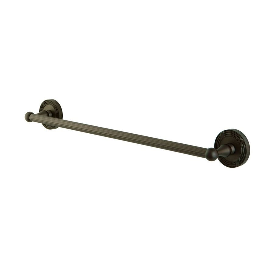 Elements of Design Georgian Oil-Rubbed Bronze Single Towel Bar (Common: 18-in; Actual: 20.5-in)