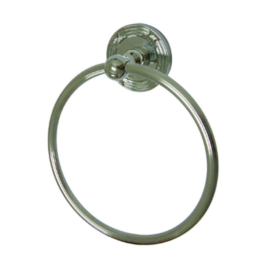 Elements of Design Georgian Polished Chrome Wall-Mount Towel Ring