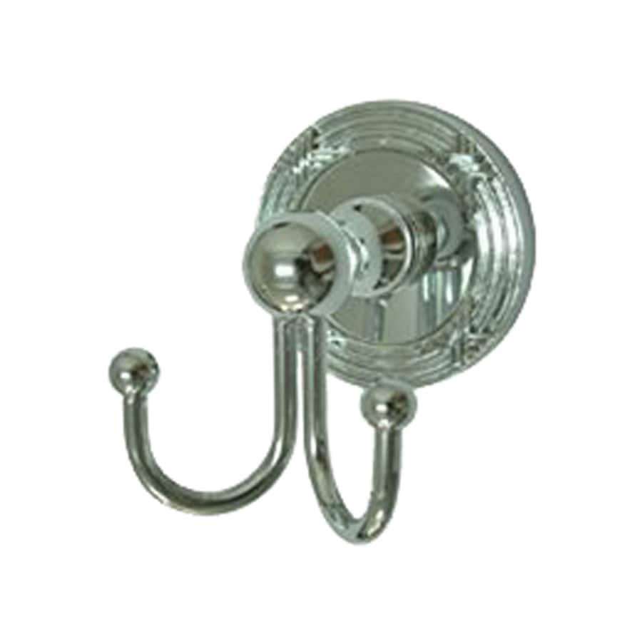 Elements of Design Georgian 2-Hook Polished Chrome Robe Hook