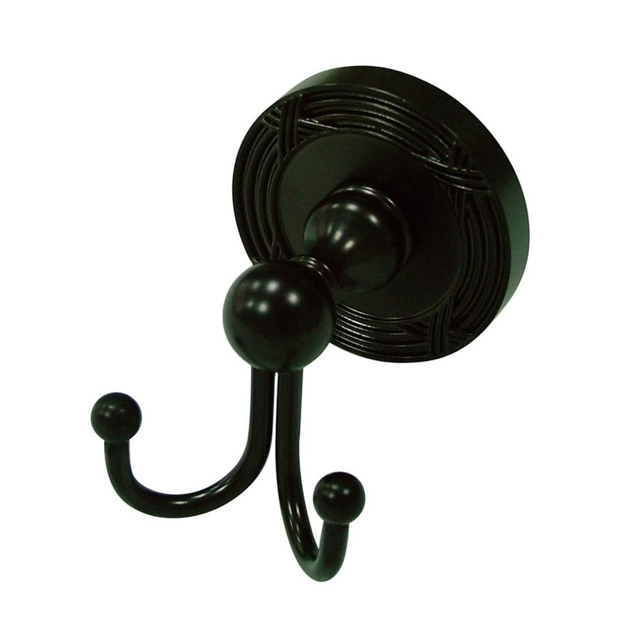 Elements of Design Georgian 2-Hook Oil Rubbed Bronze Towel Hook