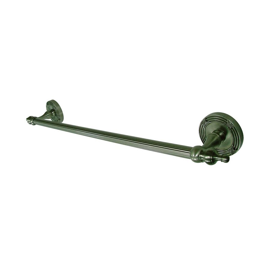 Elements of Design Templeton Satin Nickel Single Towel Bar (Common: 18-in; Actual: 21-in)