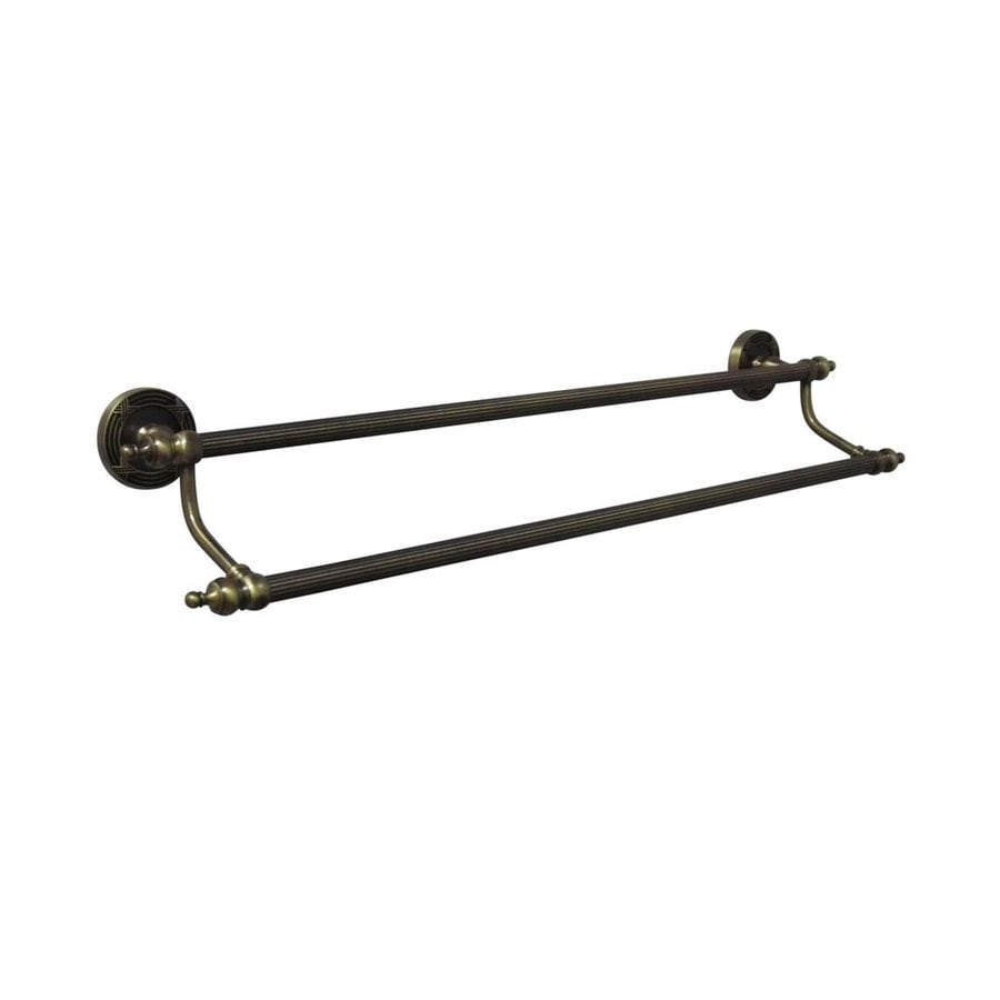 Elements of Design Templeton Vintage Brass Double Towel Bar (Common: 24-in; Actual: 27-in)