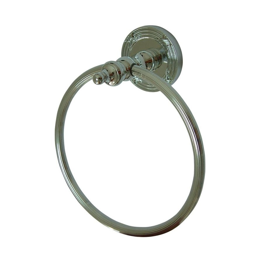 Elements of Design Templeton Polished Chrome Wall-Mount Towel Ring