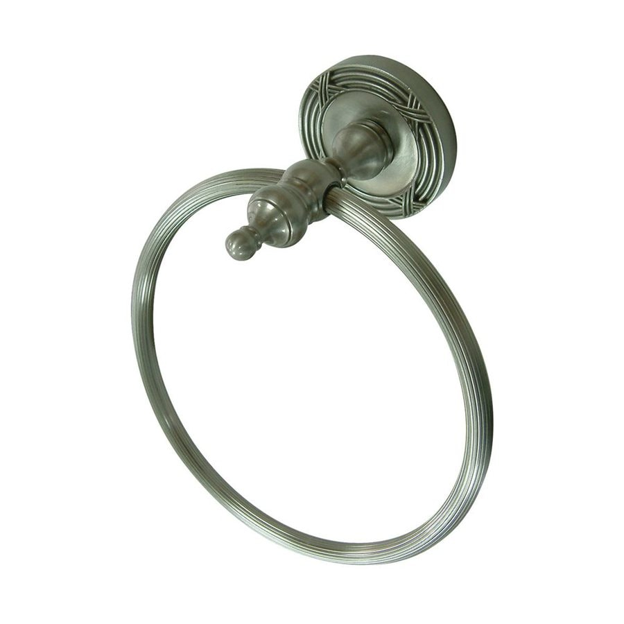 Elements of Design Templeton Satin Nickel Wall-Mount Towel Ring