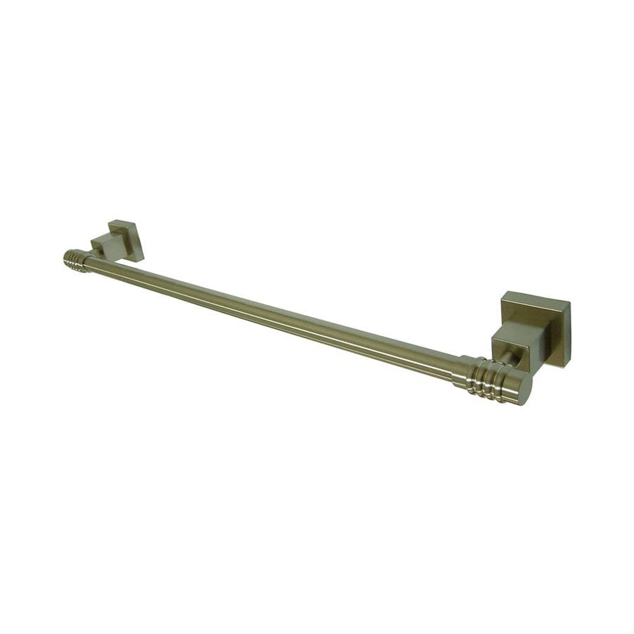 Elements of Design Fortress Satin Nickel Single Towel Bar (Common: 24-in; Actual: 26-in)