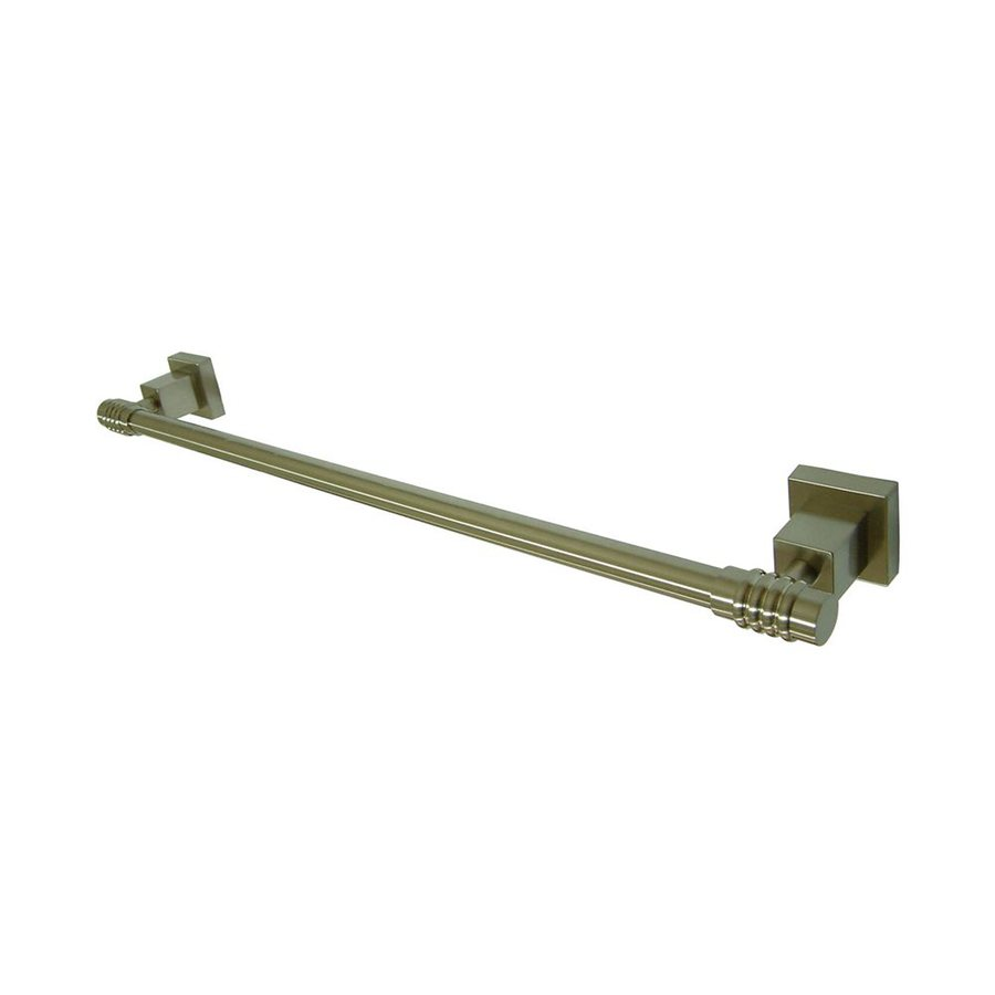 Elements of Design Fortress Satin Nickel Single Towel Bar (Common: 18-in; Actual: 20-in)