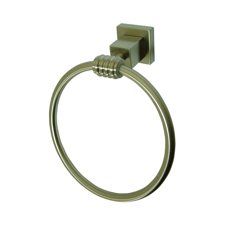 Elements of Design Fortress Satin Nickel Wall-Mount Towel Ring