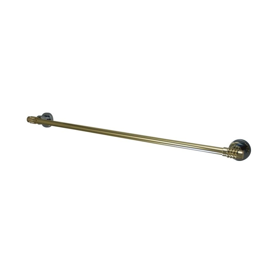 Elements of Design Milano Chrome/Polished Brass Single Towel Bar (Common: 24-in; Actual: 26.75-in)
