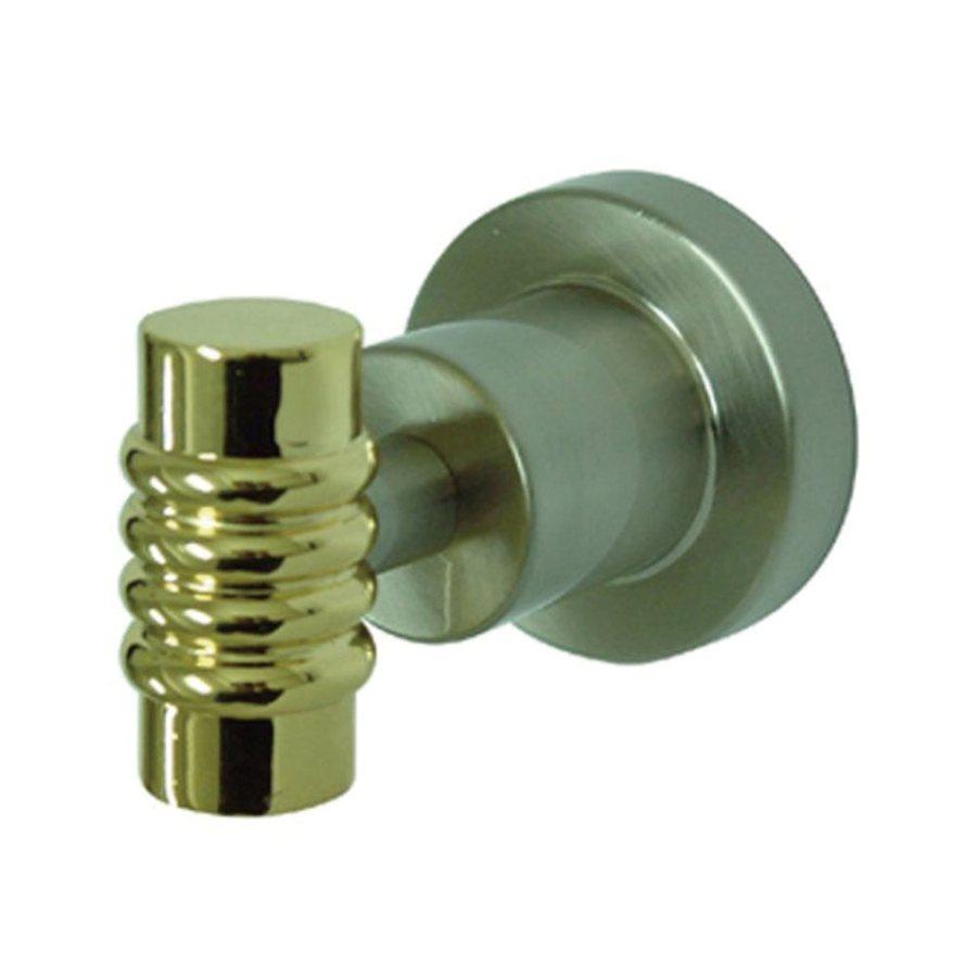 Elements of Design Milano 1-Hook Satin Nickel/Polished Brass Robe Hook
