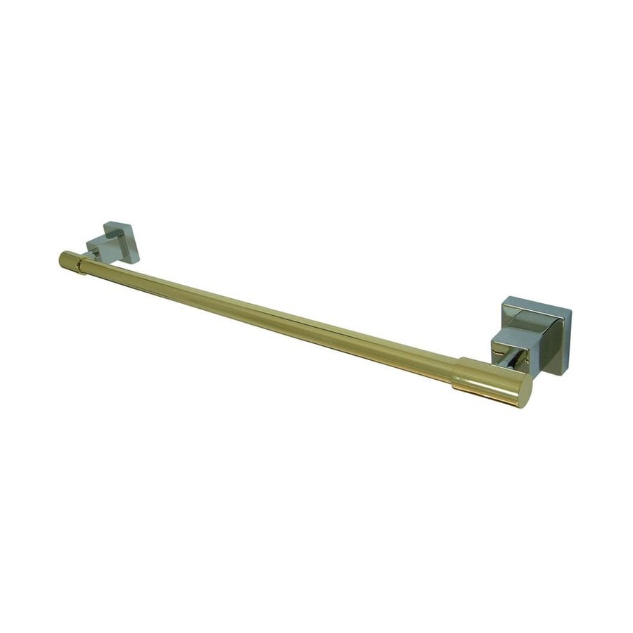 Elements of Design Claremont Chrome/Polished Brass Single Towel Bar (Common: 24-in; Actual: 25.75-in)