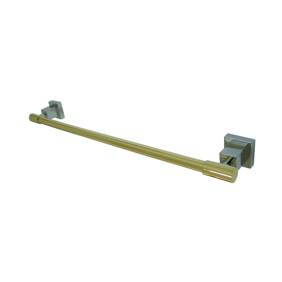 Elements of Design Claremont Chrome/Polished Brass Single Towel Bar (Common: 18-in; Actual: 19.75-in)