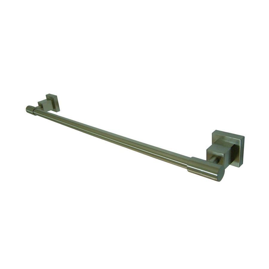 Elements of Design Claremont Satin Nickel Single Towel Bar (Common: 18-in; Actual: 19.75-in)