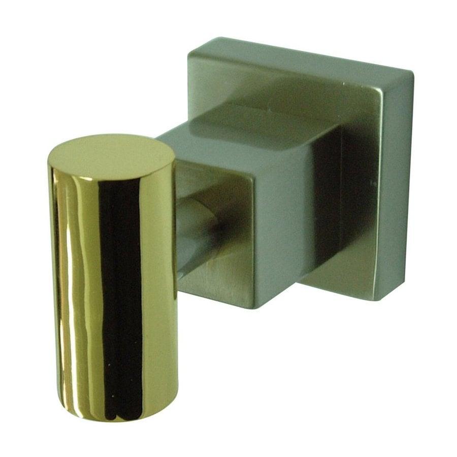 Elements of Design Claremont 1-Hook Satin Nickel/Polished Brass Robe Hook